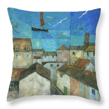 Falmouth Throw Pillow by Steve Mitchell