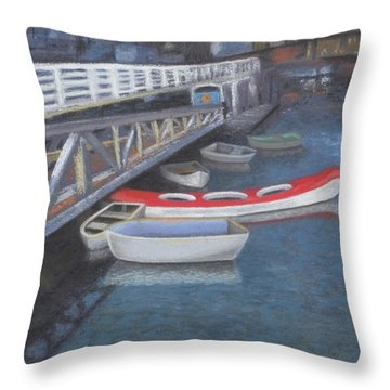 False Creek Ferry Landing Throw Pillow