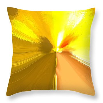 False Dandelion Throw Pillow