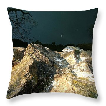 False Earth False Moon Throw Pillow