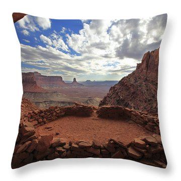 False Kiva Throw Pillow by Alan Vance Ley