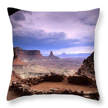 False Kiva Throw Pillow by Bob Christopher