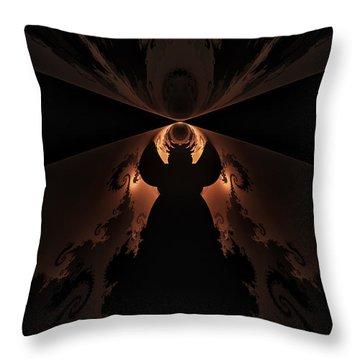 Throw Pillow featuring the digital art False Prophet by GJ Blackman