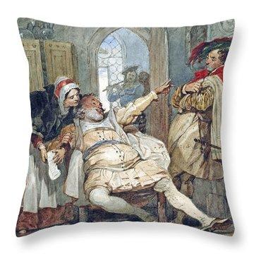 Falstaff Bardolph And Dame Quickly Throw Pillow