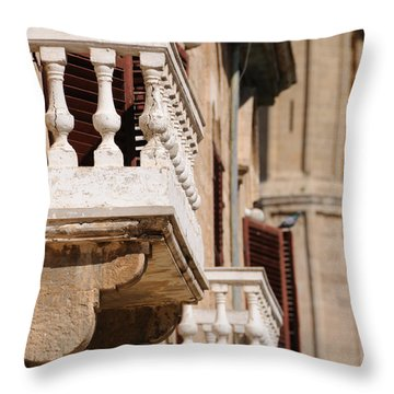 Famagusta Balconies Throw Pillow by Jeremy Voisey