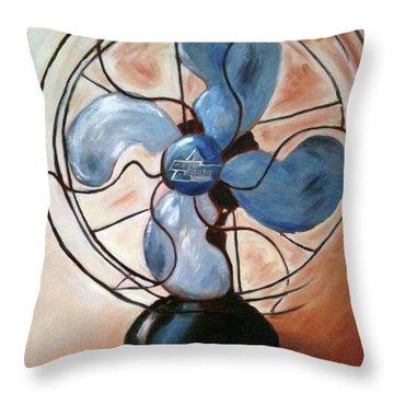 Familiar Breeze Throw Pillow