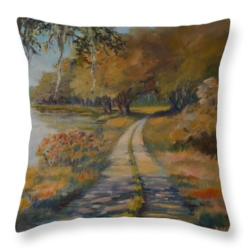 Familiar Road Throw Pillow