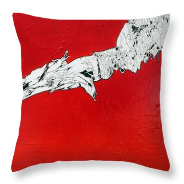 Familiarity Of An Unknown - Bottom Piece Throw Pillow