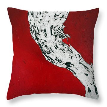 Familiarity Of An Unknown - Middle Piece Throw Pillow