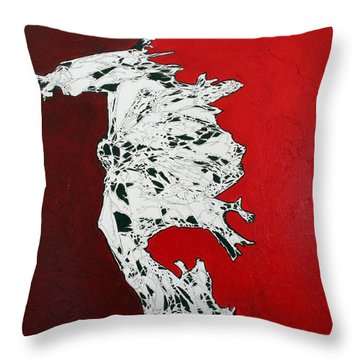Familiarity Of An Unknown - Top Piece Throw Pillow