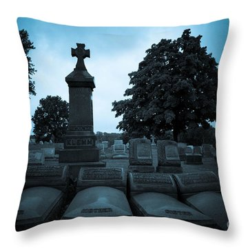 Family At Rest Throw Pillow by Amy Cicconi