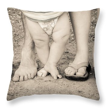Family Feets Throw Pillow