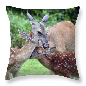 Family Hug Throw Pillow