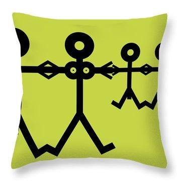 Family Icon Throw Pillow by Thisisnotme