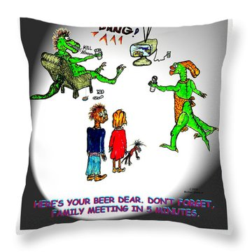 Family Meeting For Billie Throw Pillow