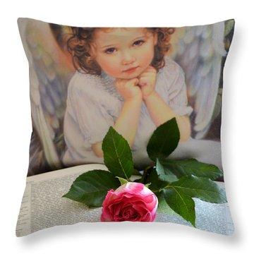 Family Memories Throw Pillow by Deb Halloran