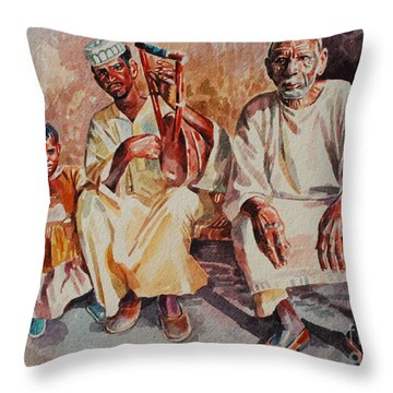 Family Throw Pillow by Mohamed Fadul
