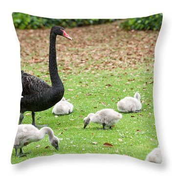 Family Of Six Throw Pillow