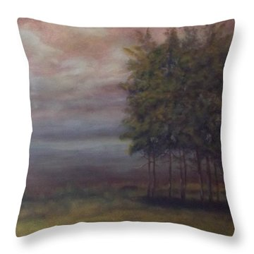 Family Of Trees Throw Pillow