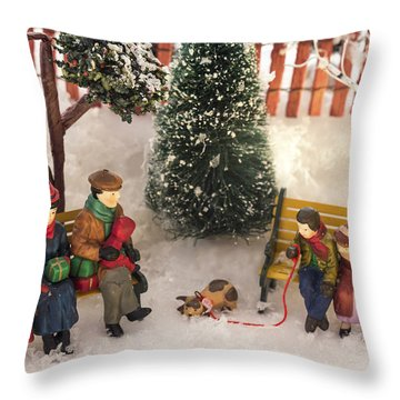 Family Outing Throw Pillow by Caitlyn  Grasso