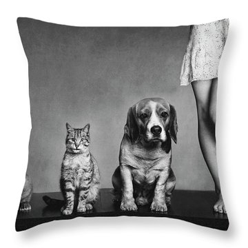 Knees Throw Pillows