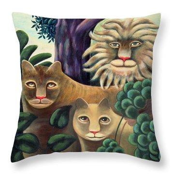 Family Portrait Throw Pillow by Jerzy Marek