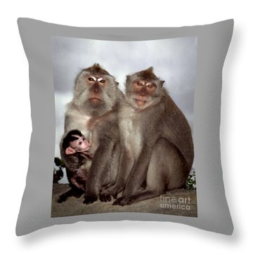 Family Portrait Throw Pillow