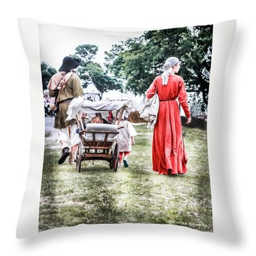 Throw Pillow featuring the photograph Family Rollin' by Stwayne Keubrick