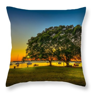 Family Sunset Throw Pillow