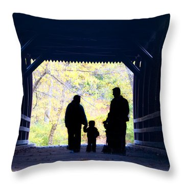 Family Time Throw Pillow by Bill Cannon