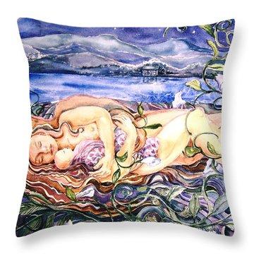 Family  Throw Pillow by Trudi Doyle