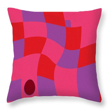 Family Values Squared Skewed Throw Pillow