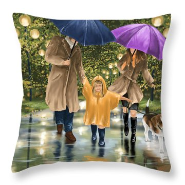 Family Throw Pillow by Veronica Minozzi