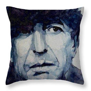 Famous Blue Raincoat Throw Pillow