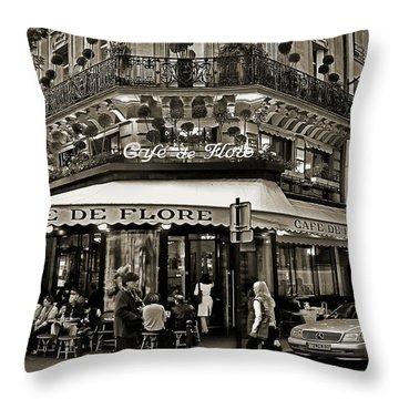 Famous Cafe De Flore - Paris Throw Pillow