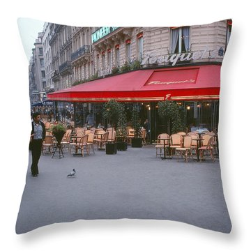 Famous Paris Restaurant - Fouquet's Throw Pillow