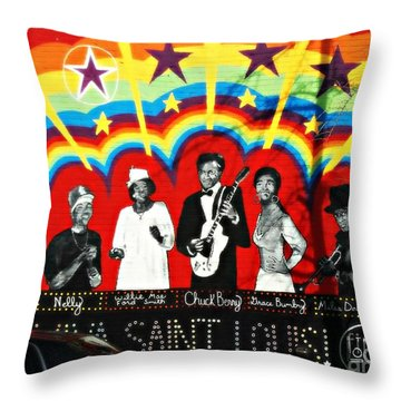 Famous St. Louisans Throw Pillow by Kelly Awad