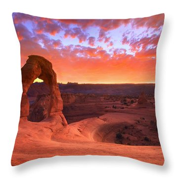 Famous Sunset Throw Pillow