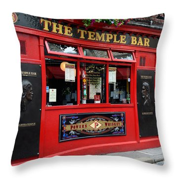 Famous Temple Bar In Dublin Throw Pillow