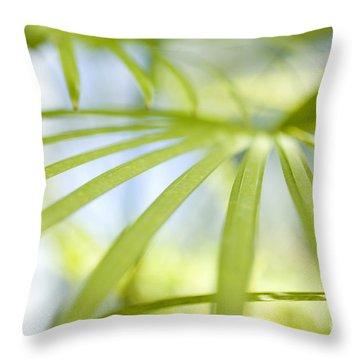 Fan Palm Fronds Throw Pillow by Charmian Vistaunet