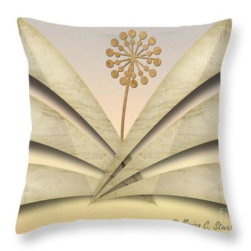 Fan Strands And Beaded Stem Throw Pillow