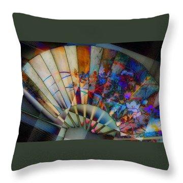 Throw Pillow featuring the photograph Fan-tastic by Jodie Marie Anne Richardson Traugott          aka jm-ART