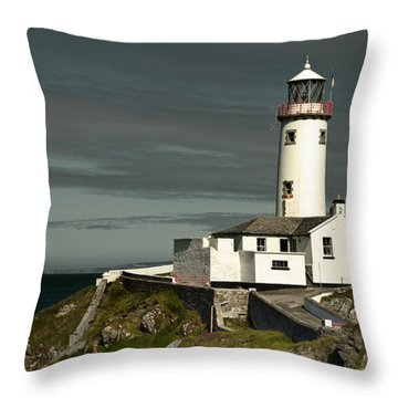 Throw Pillow featuring the photograph Fanad Head Lighthouse by Jane McIlroy