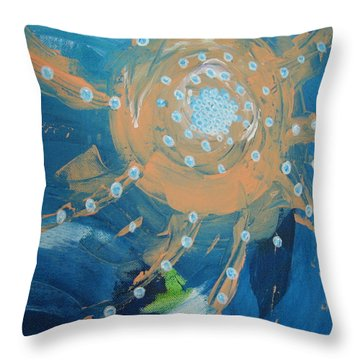 Fanciful Abstract Throw Pillow by Dotti Hannum
