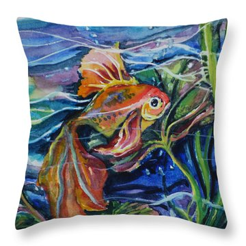Fanciful Fish Throw Pillow