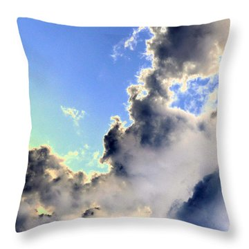 Throw Pillow featuring the photograph Fanciful Sky by Jim Whalen