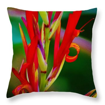 Fancy Bloom Throw Pillow