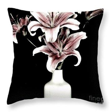 Fancy Bouquet Throw Pillow by Marsha Heiken