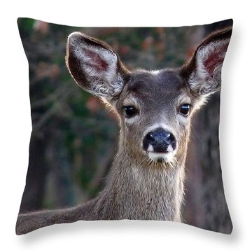 Fancy Earmuffs Throw Pillow