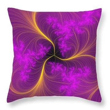 Fancy Feathers Throw Pillow